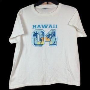 🛍4x$20 Hawaii graphic t-shirt white size xl